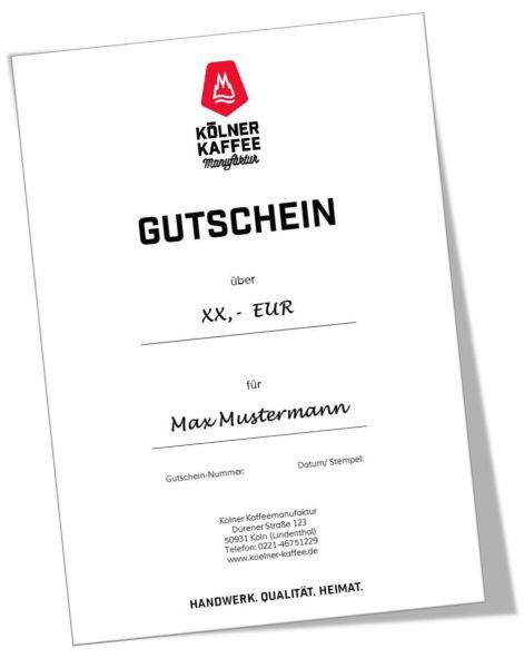 """Geschenk-Gutschein """"Euro"""""""
