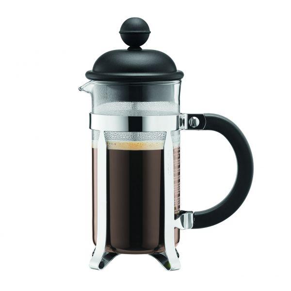 Bodum Caffetiera Stempelkanne 0,35l, 1-3 Tassen, schwarz
