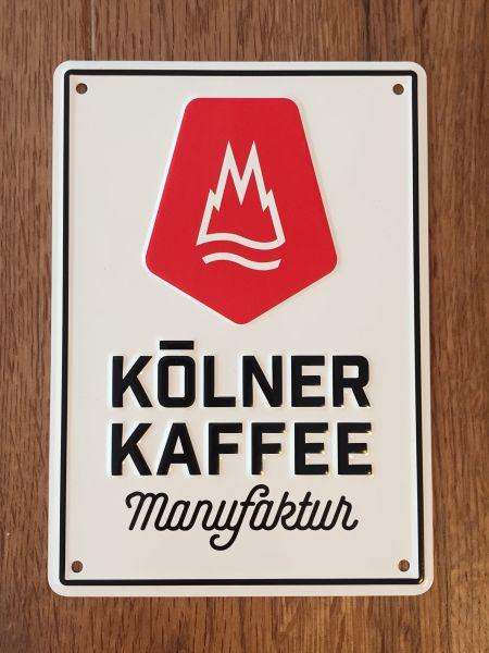 "Relief-Blechschild DIN A6 ""Kölner Kaffeemanufaktur"""