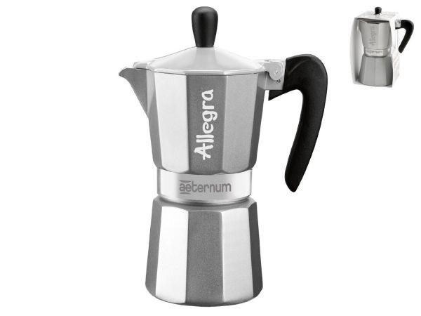 Bialetti Allegra Espressokocher 6 Tassen silber