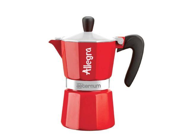 Bialetti Allegra Espressokocher 3 Tassen rot