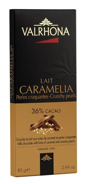 Valrhona Caramelia mit Keks-Perlen, Milchschokolade mit 36% Kakao