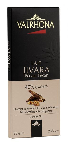 Valrhona Jivara mit Pekannusssplittern, Milchschokolade mit 40% Kakao